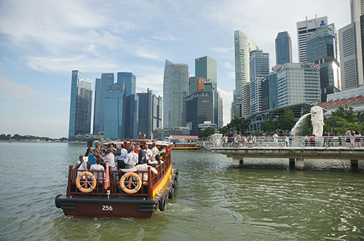 Participants on a learning journey at Singapore River
