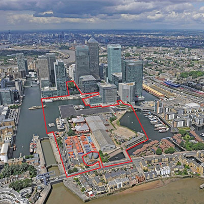 Construction on the new district in Canary Wharf has commenced, and is expected to be complete by 2023. Image credit: Allies and Morrison